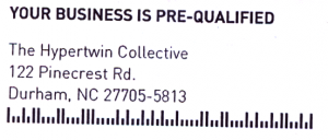 Our business is pre-qualified. Yep.